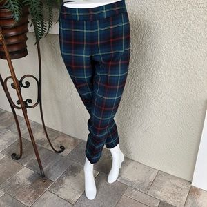 Talbots Heritage Plaid Trousers Size 4P